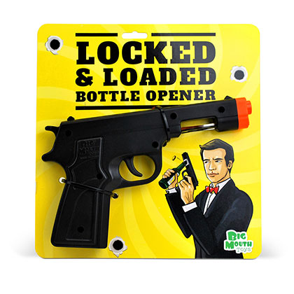 Locked And Loaded Pistol Bottle Opener