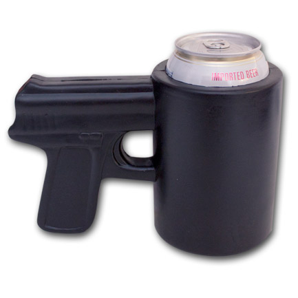 Pistol Grip Beer Can Cooler