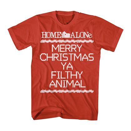 Home Alone Merry Christmas Ya Filthy Animals Red Tshirt