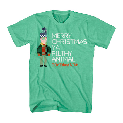 Home Alone Merry Christmas Ya Filthy Animals Green Tshirt