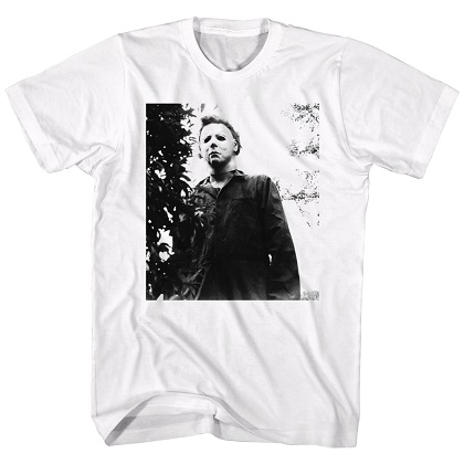 Halloween Michael Myers Watching White Tshirt