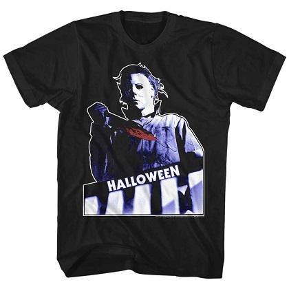 Halloween Michael Myers Top Floor Black Tshirt
