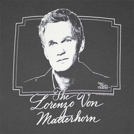 How I Met Your Mother Lorenzo Dark Grey Graphic T Shirt
