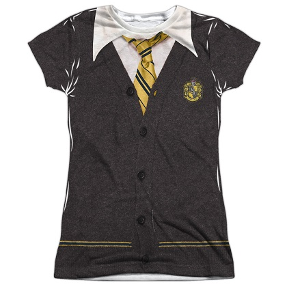 Harry Potter Hufflepuffle Uniform Womens Costume Tshirt