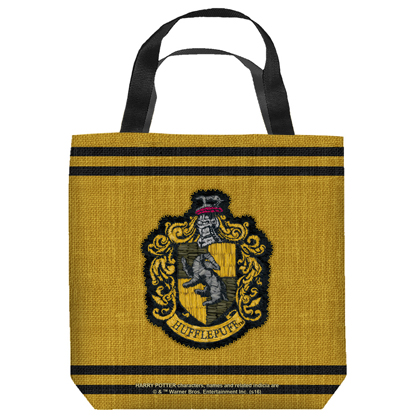 Harry Potter Hufflepuff Crest 13 Inch Tote Bag