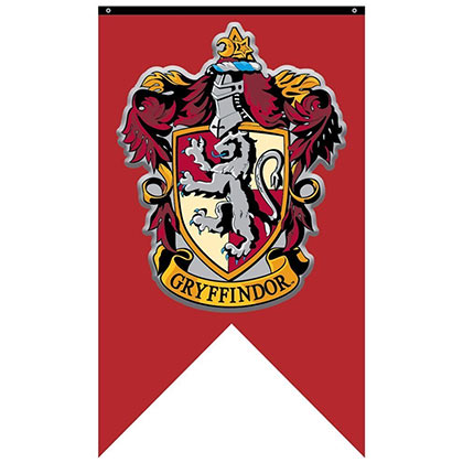 Harry Potter Red Gryffindor Banner