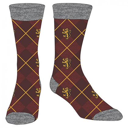 Harry Potter Maroon Argyle Gryffindor Dress Socks