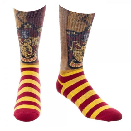 Harry Potter Striped Gryffindor Crew Socks
