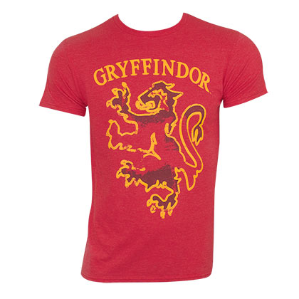 Harry Potter Men's Red Gryffindor Logo T-Shirt