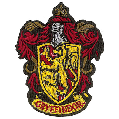 Harry Potter Gryffindor School Insignia Iron On Patch