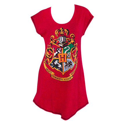 Harry Potter Hogwarts Women's Red Night Shirt