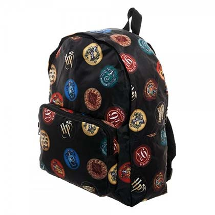Harry Potter Packable Hogwarts Black Backpack
