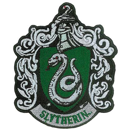 Harry Potter Slytherin School Insignia Iron On Patch