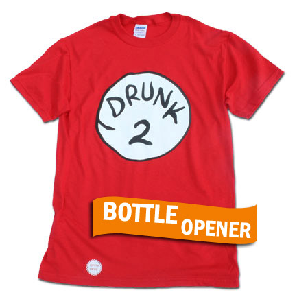 Drunk 2 Bottle Opener Red Shirt