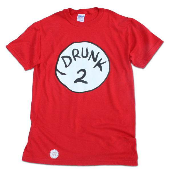 Drunk 2 Bottle Opener Red Shirt