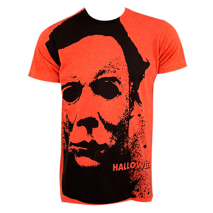 Halloween Men's Orange Splatter T-Shirt
