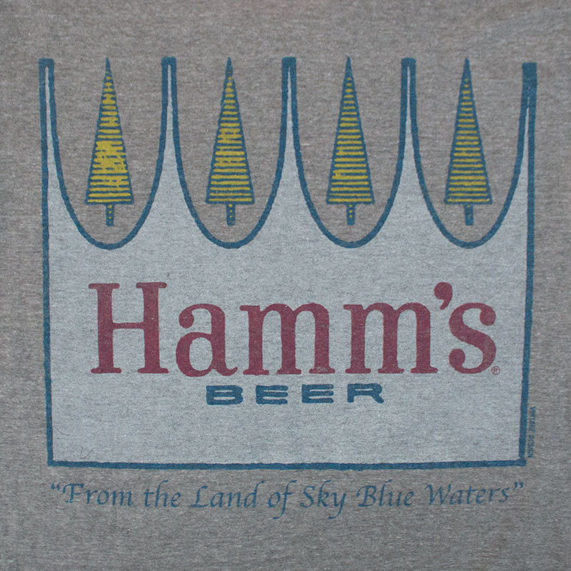 Hamm's Men's Gray Bottle Opener Tee Shirt