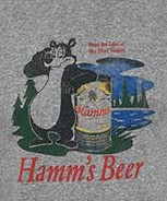 Hamm's Bear Logo Heather Grey Retro Brand Men's Tee Shirt
