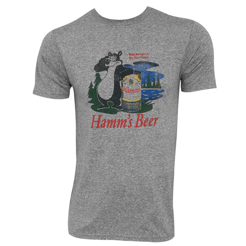 Hamm's Bear Logo Heather Grey Premium Retro Brand Men's T-Shirt