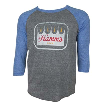 Hamm's Blue and Grey Raglan Shirt