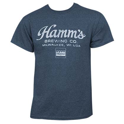 Hamm's Brewing Co. Vintage Script Blue Shirt