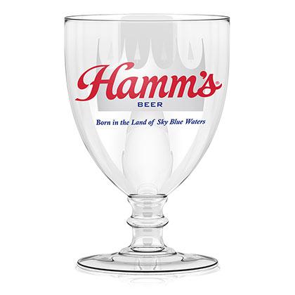 Hamm's Stemmed Goblet Glass