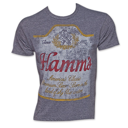 Hamm's Beer Label Tshirt