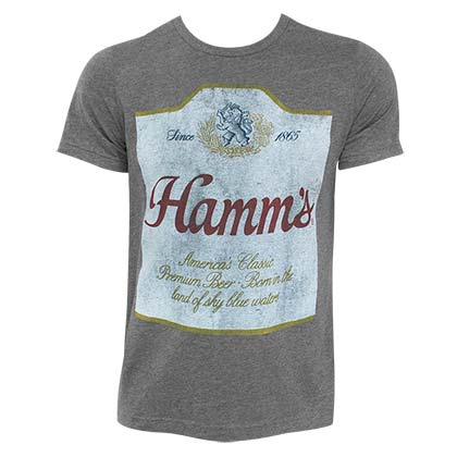 Hamm's Label Hugger Heather Grey TShirt
