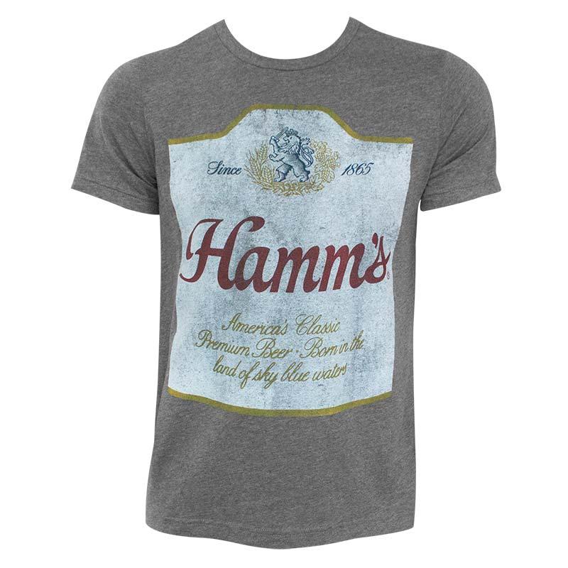 Hamm's Label Hugger Heather Grey TShirt