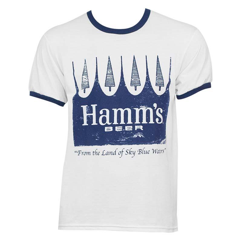 Hamm's White Men's Classic Ringer Tee Shirt