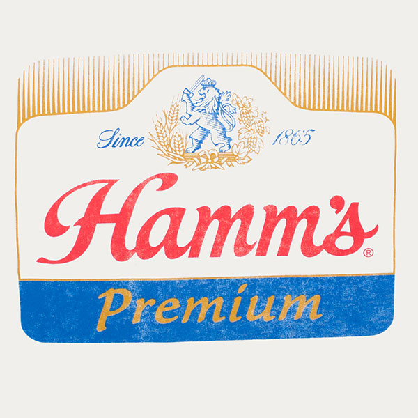 Hamm's Premium Beer White Ringer Shirt