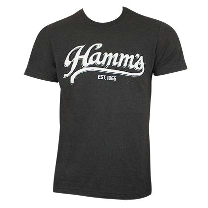 Hamm's Men's Black Sports Logo T-Shirt