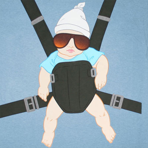The Hangover Baby Carrier Blue Graphic T-Shirt