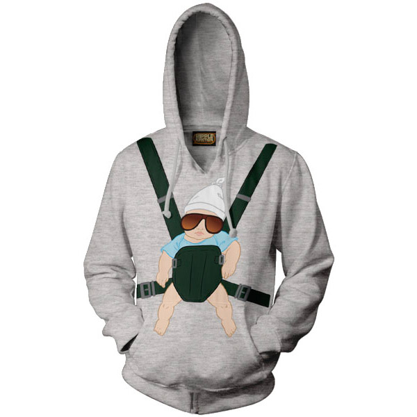 The Hangover Baby Carrier Grey Hoodie Pullover