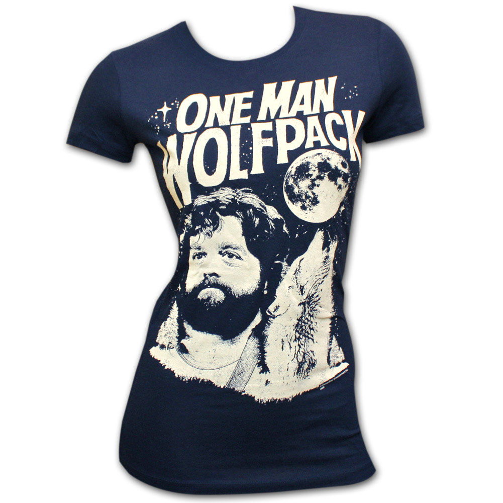 The Hangover One Man Wolf Pack Navy Juniors Graphic Tee Shirt