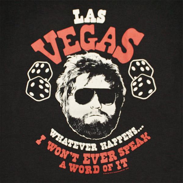 The Hangover Alan Vegas Whatever Happens Black Graphic T  Shirt
