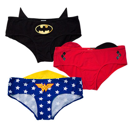 DC Comics Women's Female Superhero Panty Set