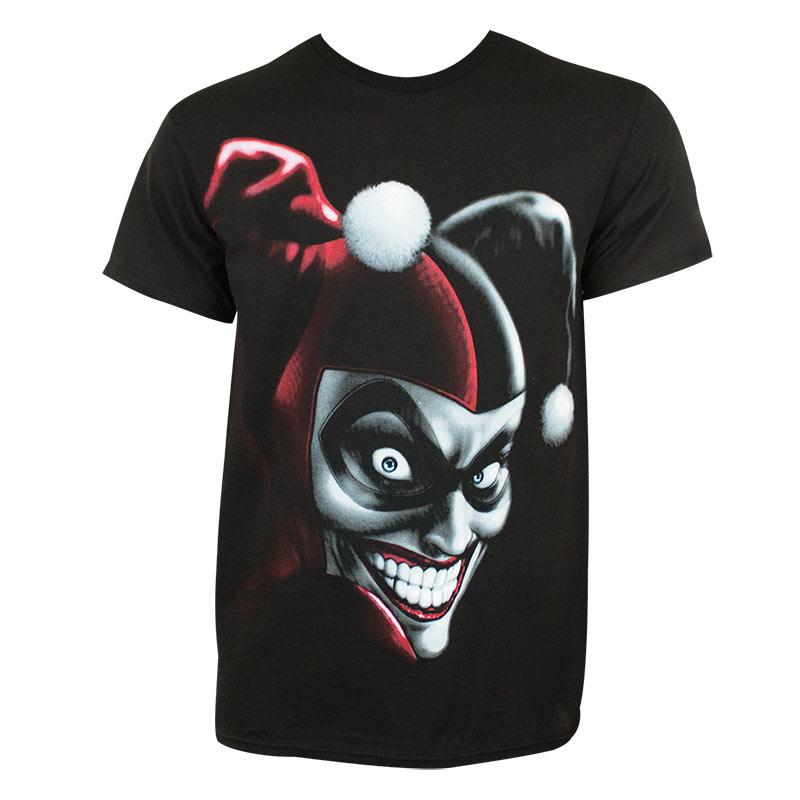 Harley Quinn Men's Black Evil Grin T-Shirt