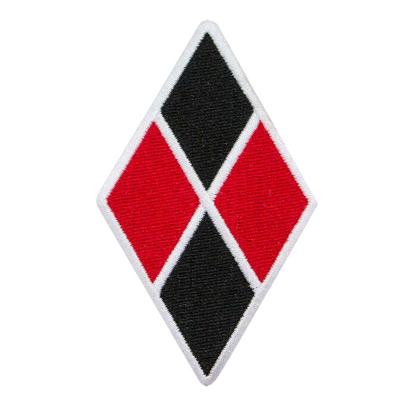 Harley Quinn Red & Black Patch