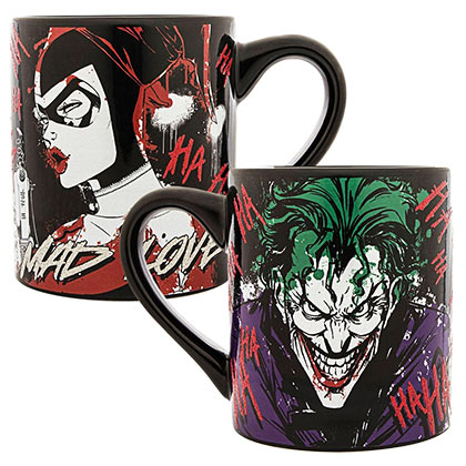 Joker And Harley Quinn Glitter 14oz Coffee Mug