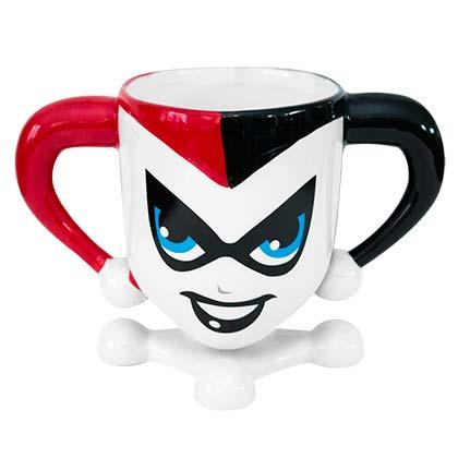 Harley Quinn White Molded Mug