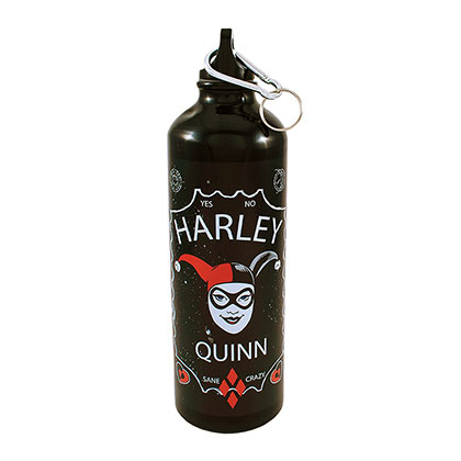 Harley Quinn Black Aluminum Water Bottle