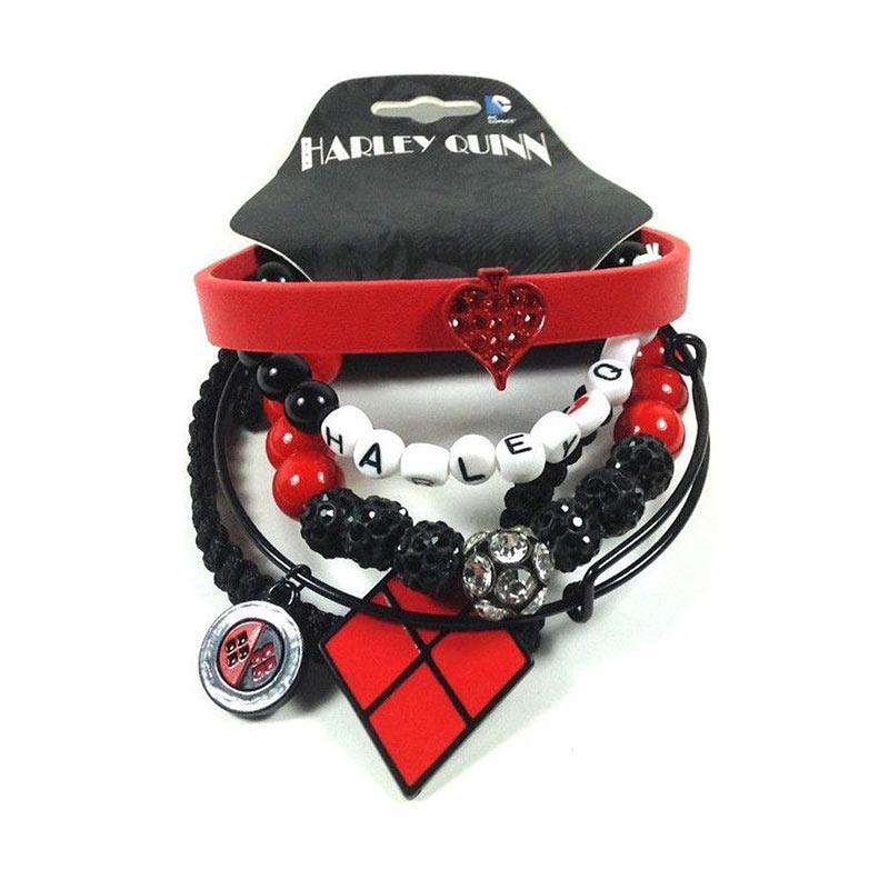 Harley Quinn Bracelet Set
