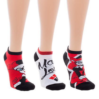 Harley Quinn 3-Pack Ankle Socks