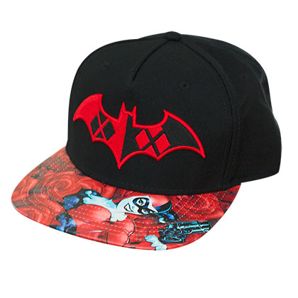 Harley Quinn Batman Black Snapback Hat