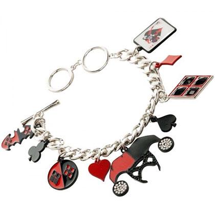 Harley Quinn Silver Charm Bracelet