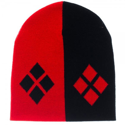 Harley Quinn Red And Black Beanie