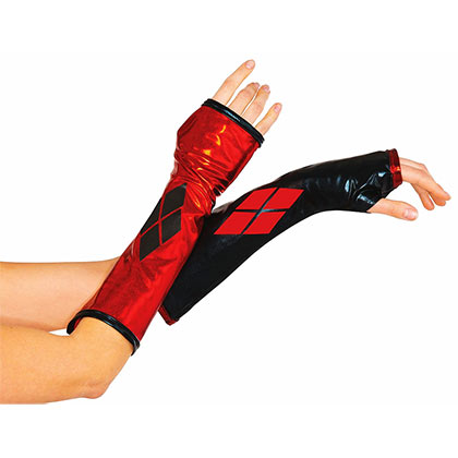 Harley Quinn Arm Gloves Costume Accessory