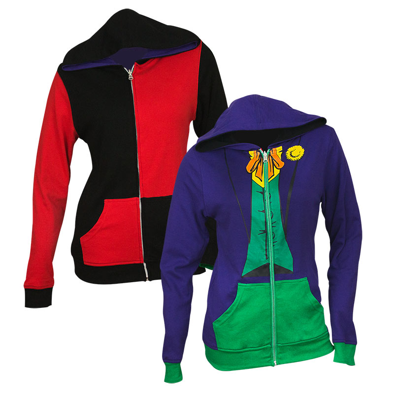 Harley Quinn and Joker Reversible Women's Hoodie