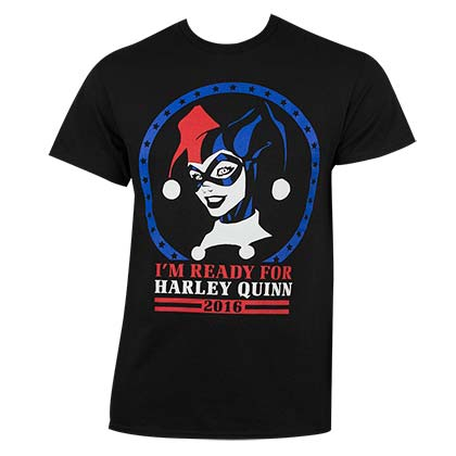 Harley Quinn Men's Black Ready T-Shirt